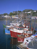 Boats and Waterfront, Mccaig's Tower on Hill, Oban, Argyll, Strathclyde, Scotland, UK, Europe Photographic Print by Geoff Renner
