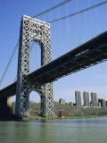 George Washington Bridge and Little Red Lighthouse, New York, USA Photographic Print by Geoff Renner
