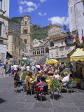Cafes and Cathedral, Amalfi, Amalfi Coast, Campania, Italy, Europe Photographic Print by Gavin Hellier