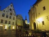 Old Town at Dusk, Unesco World Heritage Site, Tallinn, Estonia, Baltic States, Europe Photographic Print by Gavin Hellier