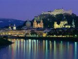 Kollegienkirche, Cathedral and Hohensalzburg Fortress, Salzburg, Austria, Europe Photographic Print by Gavin Hellier