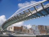Zubizuri Bridge, Bilbao, Pais Vasco (Vizcaya), Spain, Europe Photographic Print by Maurice Joseph