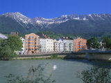 Buildings Along the River Inn, Innsbruck, Tirol (Tyrol), Austria, Europe Photographic Print by Gavin Hellier