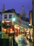 Rainy Street and Dome of the Sacre Coeur, Montmartre, Paris, France, Europe Photographic Print by Gavin Hellier