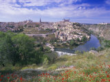 View of the City and Tagus River (Rio Tajo), Toledo, Castilla La Mancha, Spain, Europe, Photographic Print