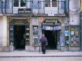 Typical Shop Fronts in the City Centre, Lisbon, Portugal, Europe Photographic Print by Gavin Hellier