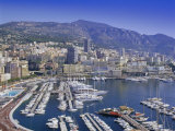View Over the Harbour and City, Monte Carlo, Monaco, Cote d'Azur, Europe Photographic Print by Gavin Hellier