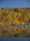 Fall Colours and Lake, Eastern Townships, Quebec, Canada, North America Photographic Print by Maurice Joseph