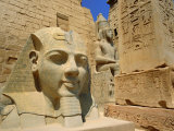 Statue of Ramses II and Obelisk, Luxor Temple, Luxor, Egypt, North Africa Photographic Print by Gavin Hellier