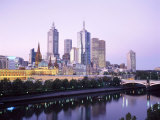 The City Skyline from Southgate, Melbourne, Victoria, Australia Photographic Print by Gavin Hellier