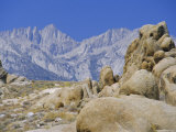 Distant Granite Peaks of Mount Whitney (4416M), Sierra Nevada, California, USA Photographic Print by Anthony Waltham