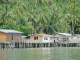 Stilt Houses of a Fishing Village, Sabah, Island of Borneo, Malaysia Photographic Print by Gavin Hellier