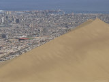 Giant Sand Dune Above Large City, Iquique, Atacama Coast, Chile, South America Photographic Print by Anthony Waltham