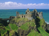 Dunluce Castle on Rocky Coastline, County Antrim, Ulster, Northern Ireland, UK, Europe Photographic Print by Gavin Hellier