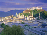 Elevated View of the Old City, Kollegienkirche and Cathedral Domes, Salzburg, Tirol, Austria Photographic Print by Gavin Hellier
