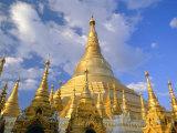 The Great Golden Stupa, Shwedagon Paya (Shwe Dagon Pagoda), Yangon (Rangoon), Myanmar (Burma) Photographic Print by Gavin Hellier