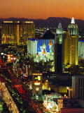 Elevated View of Casinos on the Strip, Las Vegas, Nevada, USA Photographic Print by Gavin Hellier