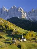 Mountains, Geisler Gruppe/Geislerspitzen, Dolomites, Trentino-Alto Adige, Italy, Europe Photographic Print by Gavin Hellier