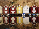 Boat Huts in Smogen, Bohuslan Coast, Sweden Photographic Print by Gavin Hellier