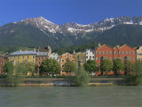 Buildings Along the Inn River, Innsbruck, Tirol (Tyrol), Austria, Europe Photographic Print by Gavin Hellier