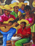 Cuban Paintings, Havana, Cuba, West Indies, Central America Fotografie-Druck von Gavin Hellier