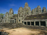 The Bayon Temple, Angkor, Siem Reap, Cambodia Photographic Print by Gavin Hellier