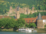Heidelberg Castle and the Neckar River, Heidelberg, Baden-Wurttemberg, Germany, Europe Photographic Print by Gavin Hellier