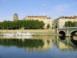 Quai Victor Augagneur on River Rhone, Lyon, Rhone Valley, France, Europe Photographic Print by David Hughes
