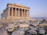 The Parthenon at Sunset, Unesco World Heritage Site, Athens, Greece, Europe Photographic Print by James Green