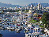 City Centre Seen Across Marina in Granville Basin, Vancouver, British Columbia, Canada Photographic Print by Anthony Waltham