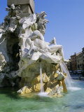 Fontana Dei Quattro Fiumi (Four Rivers Fountain), Piazza Navona, Rome, Lazio, Italy, Europe Photographic Print by Gavin Hellier