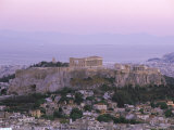 The Parthenon and Acropolis from Lykavitos, Unesco World Heritage Site, Athens, Greece, Europe Photographic Print by Gavin Hellier