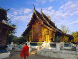 Classic Lao Temple Architecture, Wat Xieng Thong, Luang Prabang, Laos Photographic Print by Gavin Hellier