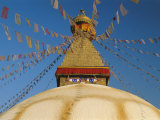 Bodhnath Stupa (Bodnath, Boudhanath) the Largest Buddhist Stupa in Nepal, Kathmandu, Nepal Photographic Print by Gavin Hellier