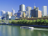 The City Skyline and Yarra River from Southgate, Melbourne, Victoria, Australia Photographic Print by Gavin Hellier