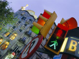 Casa Balli, Gaudi Architecture, and Street Signs, Barcelona, Spain Photographic Print by Gavin Hellier