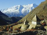 Stupas on the Path to Tengboche, Khumbu Himal, Himalayas, Nepal Photographic Print by James Green