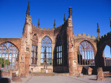 Old Cathedral (Bombed in 2nd World War), Coventry, Warwickshire, UK Photographic Print by David Hughes