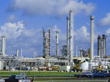 Oil Refinery on Bank of Mississippi Near Baton Rouge, Louisiana, USA Photographic Print by Anthony Waltham