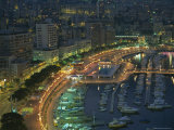 Harbour and Yachts and Twilight, Monte Carlo, Monaco, Mediterranean Coast, Europe Photographic Print by Gavin Hellier