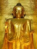Standing Buddha Statue, Ananda Pahto Temple, Bagan (Pagan), Myanmar (Burma) Photographic Print by Gavin Hellier