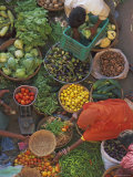 Overhead View of the Fruit and Vegetable Market, Pushkar, Rajasthan State, India, Asia Photographic Print by Gavin Hellier