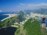 Rio and the Copacabana Beach from Pao De Acucar (Sugar Loaf), Rio De Janeiro, Brazil Photographic Print by Gavin Hellier