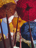 Decorative Umbrellas, Temple Festival, Mas, Bali, Indonesia, Asia Photographic Print by James Green