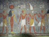 Wall Painting in the Tomb of Horemheb, Valley of the Kings, Thebes, Egypt, Africa Lámina fotográfica por Gavin Hellier