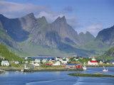 Reine Village of Moskenesoya, Lofoten Islands, Nordland, Norway, Scandinavia, Europe Photographic Print by Gavin Hellier