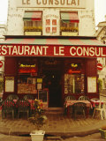 Cafe Restaurant, Montmartre, Paris, France, Europe Photographic Print by David Hughes
