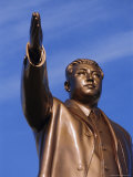Bronze Statue, 30M High, of Great Leader, Mansudae Hill Grand Monument, Pyongyang, North Korea Photographic Print by Anthony Waltham