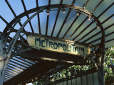 Close-up of Metropolitain (Metro) Station Entrance, Art Nouveau Style, Paris, France, Europe Photographic Print by Gavin Hellier