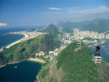 Aerial View of Rio and the Copacabana Beach from Sugar Loaf, in Rio De Janeiro, Brazil Photographic Print by Gavin Hellier